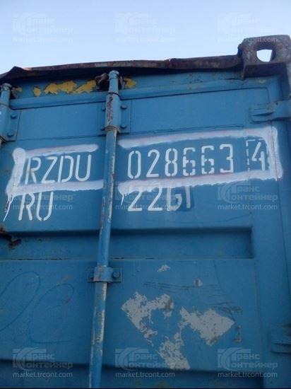 Изображение 20-футовый б/у контейнер №0286634