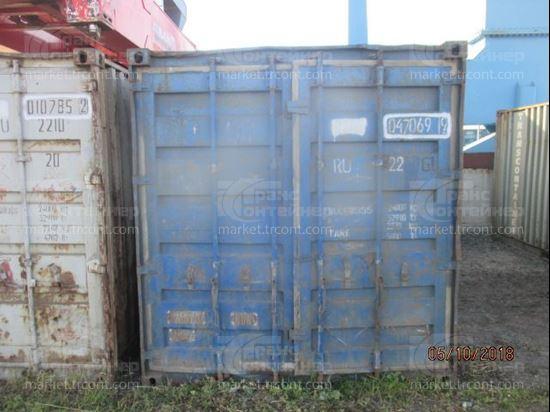 Изображение 20-футовый б/у контейнер №0470699