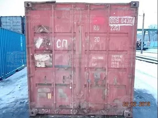 Изображение 20-футовый б/у контейнер №0060436