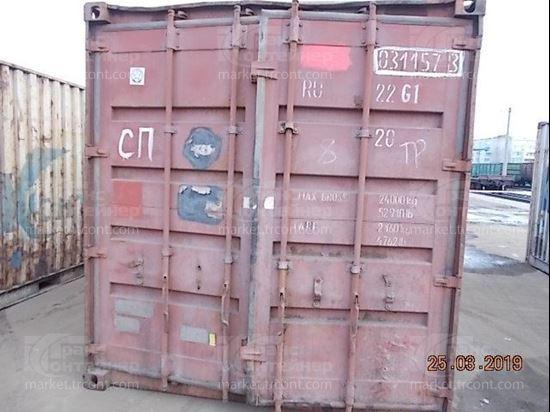 Изображение 20-футовый б/у контейнер №0311573