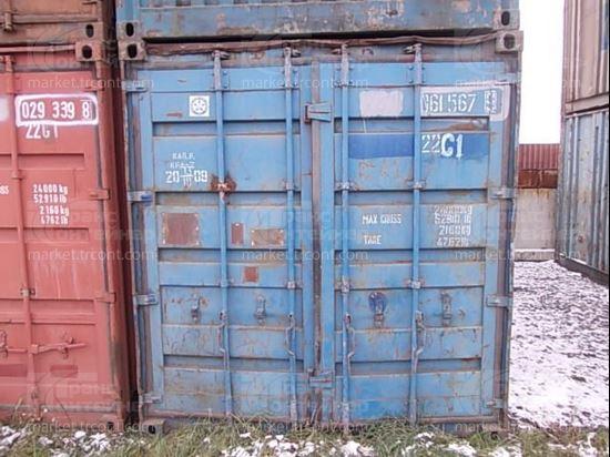 Изображение 20-футовый б/у контейнер №0615679