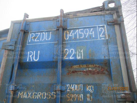 Изображение 20-футовый б/у контейнер №0415942